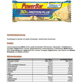 PowerBar ProteinPlus 30% Bar Box 15x55g, Vanilla-Coconut